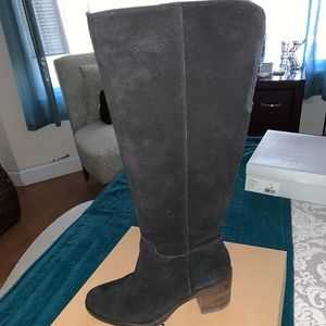 Lucky Brand Wide Calf Suede Boots